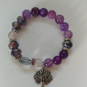 Jewelry - Amethyst tree of life bracelet